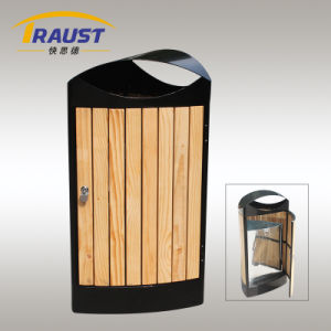 Reliable Performance Outdoor Wooden Trash Bin pictures & photos