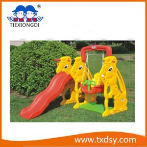 Outdoor Kids Plastic Slide with Swing pictures & photos