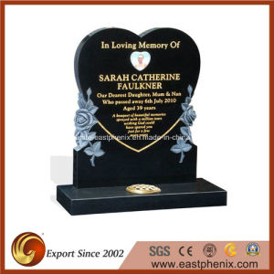 Black Natural European/Russian/American Style Granite/Marble Tombstone/Monument/Headstone with Custom Design pictures & photos
