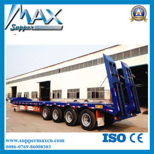 4 Axles 80tons Hydraulic Low Bed Semi Truck Trailer pictures & photos