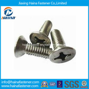 Stock DIN965 Stainless Steel Phillips Countersunk Head Machine Screw pictures & photos