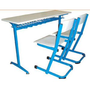 Good School Furniture Classroom Double Student Desk and Chair (FS-3230) pictures & photos