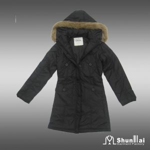Women′s New Design Winter Long Coat