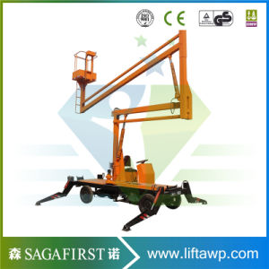 14m 16m Towable Articulating Boom Lift Bucket Lift for Sale pictures & photos