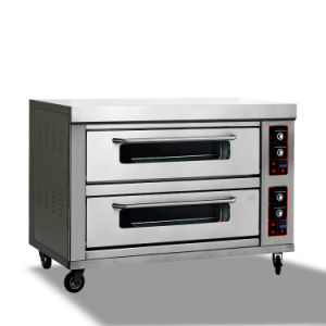 Hot Sale Single Three-Layers Gas Oven for Pizza pictures & photos