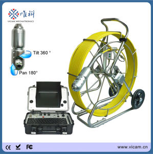 Heavy Duty 60m Fiberglass Push Rod Cable Video Pipe Inspection Camera pictures & photos