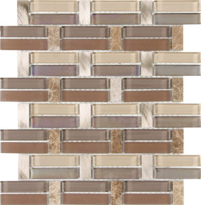 Marble Mosaic Crystal Mosaic/Glass Mosaic/Strip Mosaic Tile pictures & photos