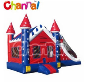 Inflatable Christmas House Bouncer with Slide/Inflatable Combo for Christmas pictures & photos