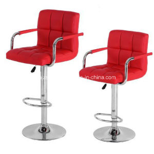 Bar Stool PU Leather Barstools Chairs Adjustable Counter Swivel Pub Style Zs-602 pictures & photos