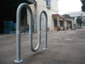 Hot Galvanized Outdoor Wave Bicycle Parking Rack pictures & photos