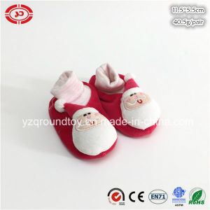 Baby First Gift Red Santa Clause Plush Soft CE Shoe pictures & photos