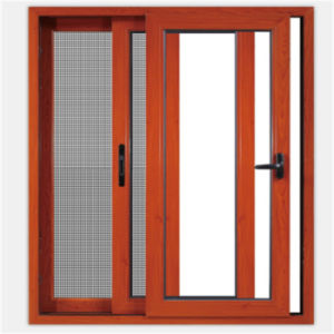 Energy-Saving Woodgrain Aluminum Sliding Window (TS-1091) pictures & photos