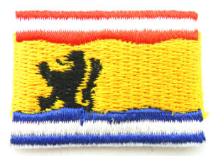 Custom Embroidered Country Flag Neck Patch Badges pictures & photos