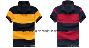 Cool Mens Stripe Golf Polo Shirt pictures & photos