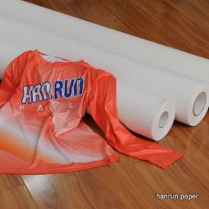 Fast Dry Sublimation Paper Roll, 44′′ 100GSM Full Sticky, Heavy Tacky Sublimation Transfer Paper for Sportswear