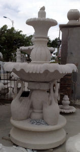 Landscape Wall Marble Water Fountain Stone Carving pictures & photos