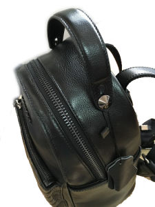 China Supplier /New Mini Lather Backpack/ Black Backpack (1608-6) pictures & photos