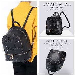 New Fashionable PU Leather Women Backpack with Hight Quality (BS10527) pictures & photos