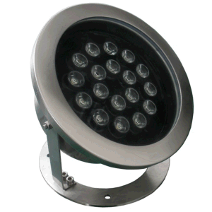 Super 54W RGB LED Underwater Light with 304 S/S