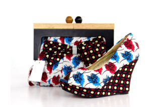 New Design African Printed High Heel Women Shoes with Bags (Y 64) pictures & photos