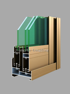 Double Insulated Glass Windows and Efficient Heat Insulation Aluminum Profiles pictures & photos
