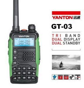 5watts Ham Radio Transceiver Tri-Band Radio (YANTON GT-03)
