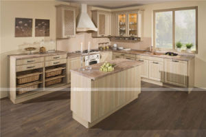 Eco-Friendly Light Color Lacquer Kitchen Cabinet pictures & photos