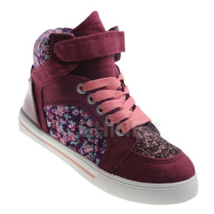 Ditsy Panel High Top Shoes for Girls