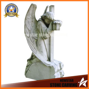 Factory Sell Granite Tombstone with Angel Carving pictures & photos