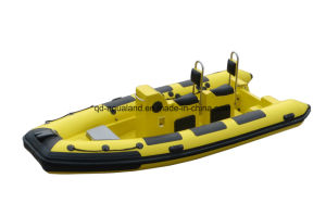Aqualand 16feet 4.8m Rigid Inflatable Motor Boat/Rib Fishing Boat /Rescue/Patrol/Sports Dive Boat (RIB480T) pictures & photos