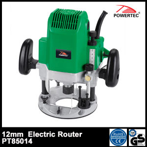 Powertec 1850W 12mm Electric Wood Router (PT85014) pictures & photos