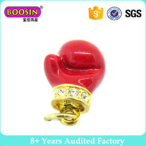 Customized Red Gloves Pendants Charms with Crystal pictures & photos