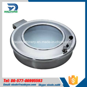 Stainless Steel Sanitary Yab Manhole Cover with Glass (DY-M018) pictures & photos