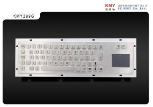 392*110mm Metal Computer Keyboard with Touchpad (KMY299G) pictures & photos