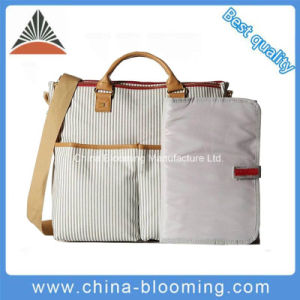 Canvas Handbag Mummy Tote Baby Diaper Bag with Changing Pad pictures & photos