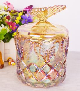 24oz Decorative Glass Jars with Glass Lid, Candy Jar pictures & photos