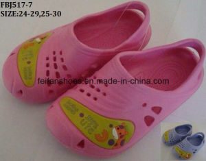 Children EVA Sandal Shoes Summer Holiday Beach Ganden Shoes (FBJ517-7) pictures & photos