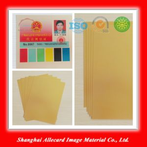 Gold Laser PVC Material Printing Sheet pictures & photos