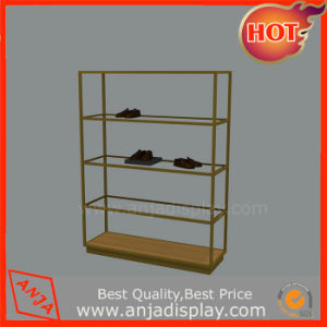 Glass and Matel Display Rack for Shoes Retail Stores pictures & photos