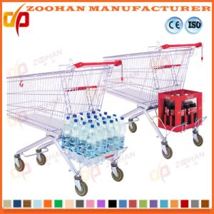 Large Capacity Metal Wheeled Grocery Supermarket Shopping Trolley Cart (Zht180) pictures & photos