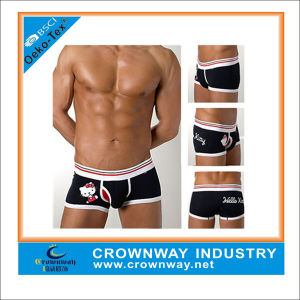 Wholesale Men′s Cute Print Cotton Boxer Shorts with Custom Logo pictures & photos