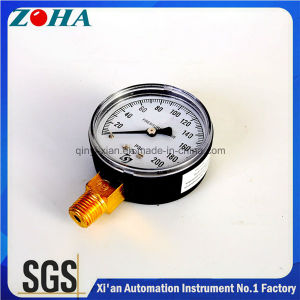 200psi Bourdon Tube Pressure Gauge with Radial Direction Black Steel Case pictures & photos