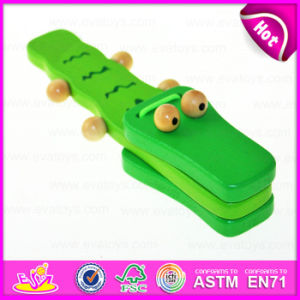 2015 Top Sale Best Kids Toys Instruments Castanet Toy, Musical Percussion Instrument, Crocodile Deisgn Wooden Castanet Toy W07I117 pictures & photos