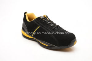 Suede Leather Safety Working Shoes with Mesh Lining (LZ5002) pictures & photos