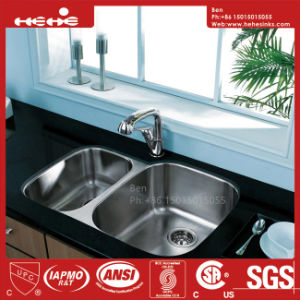 Sink, Stainless Steel Kitchen Sink, Stainless Steel Under Mount Double Bowl Kitchen Sink with Cupc Certification pictures & photos