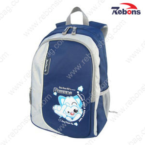 Navy Polyester Fabric Teen Children Boy Backpack School Bags pictures & photos