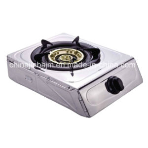 Single Burner Stainless Steel Golden Iron Gas Cooker/Gas Stove pictures & photos