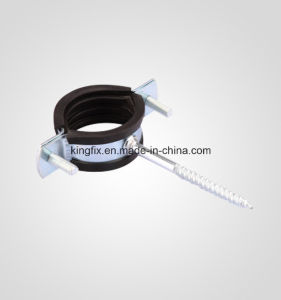 Screw Nail Pipe Clamp with Rubber pictures & photos
