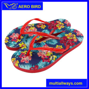 Unisex Colorful Flower Printing Fancy PE Slipper Shoes (T1611) pictures & photos