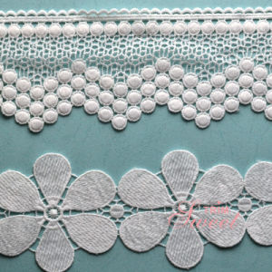 Hot Sale Water Soluble Embroideried Lace Polyester Wedding Lace pictures & photos